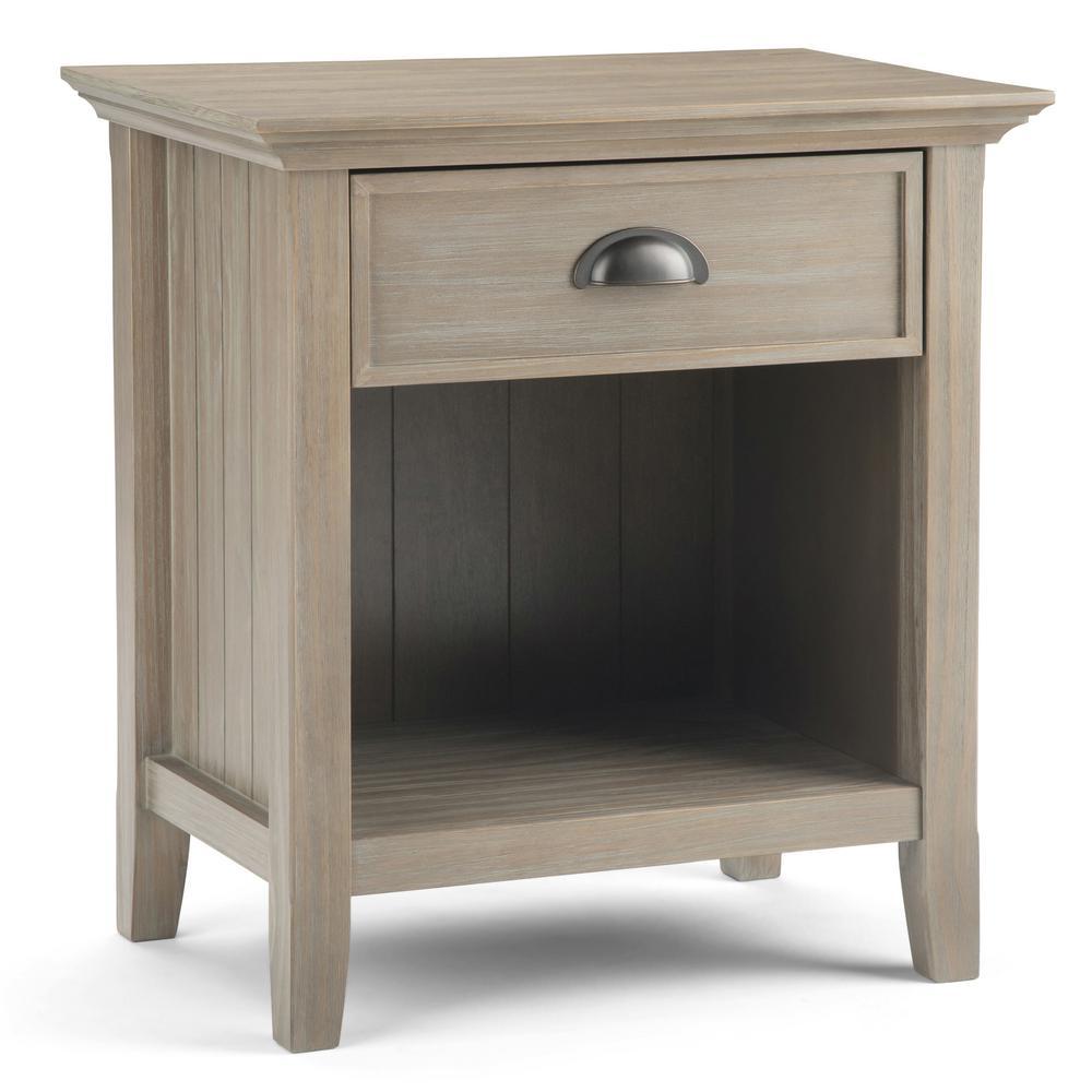 Simpli Home Acadian 1 Drawer Solid Wood 24 In Wide Rustic