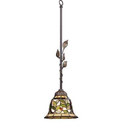 Latham 1-Light Tiffany Bronze Ceiling Mount Pendant