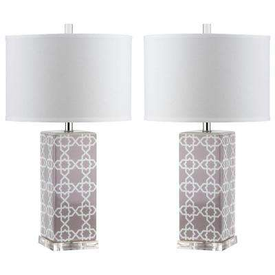 Gray Table Lamps Inspiration Glam Drum 60 Up Gray Table Lamps Lamps The Home Depot