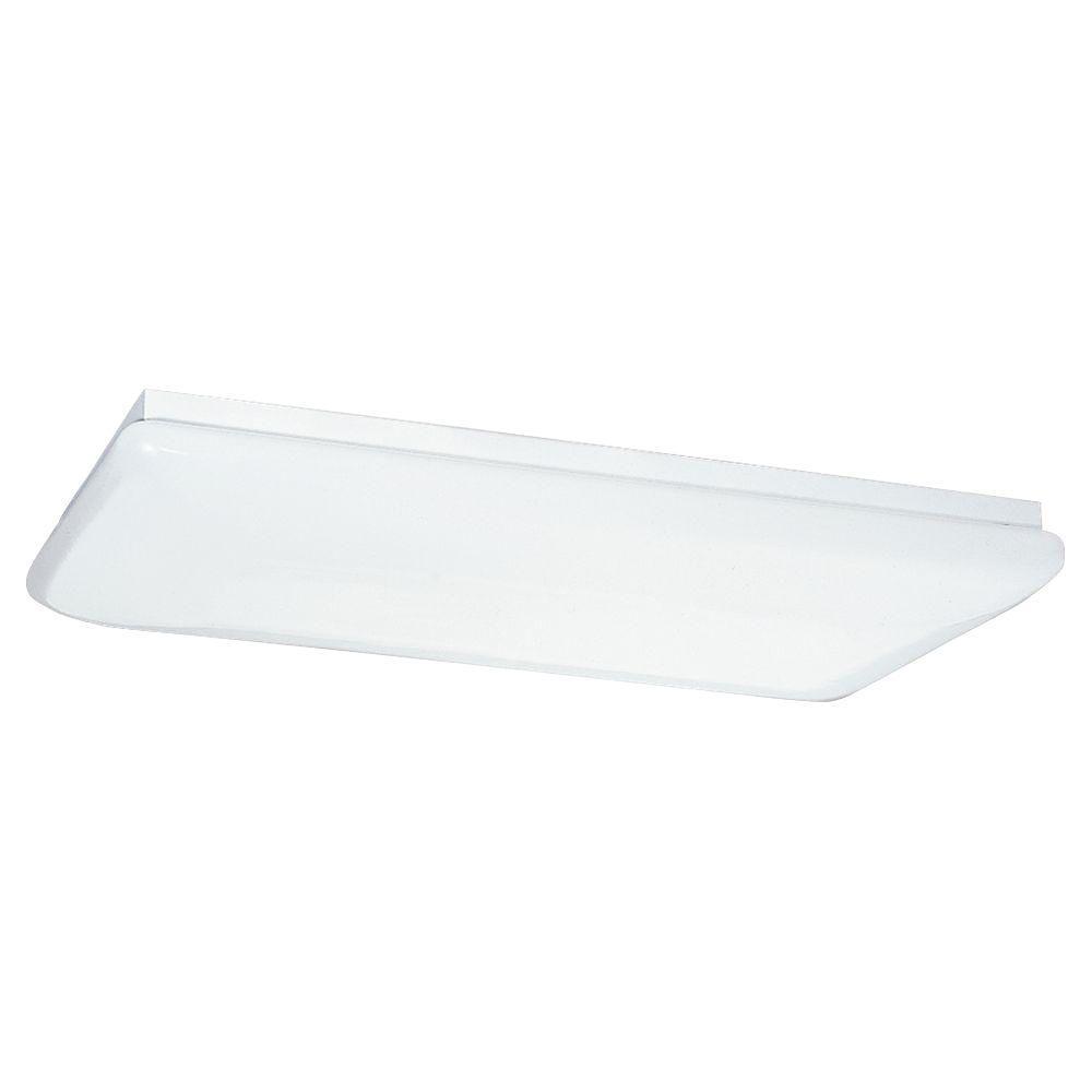 Sea Gull Lighting 4-Light White Fluorescent Ceiling