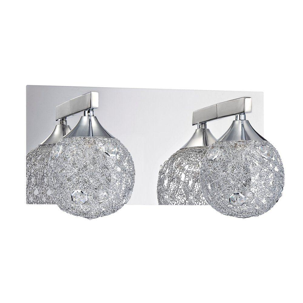 Filament Design Ida 2-Light Chrome Bath Vanity Light