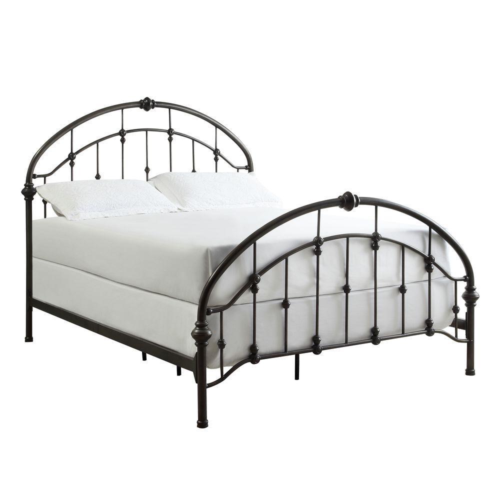 Miranda Bronzed Black Queen Bed Frame