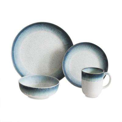 Marina 16-Piece Blue Dinnerware Set