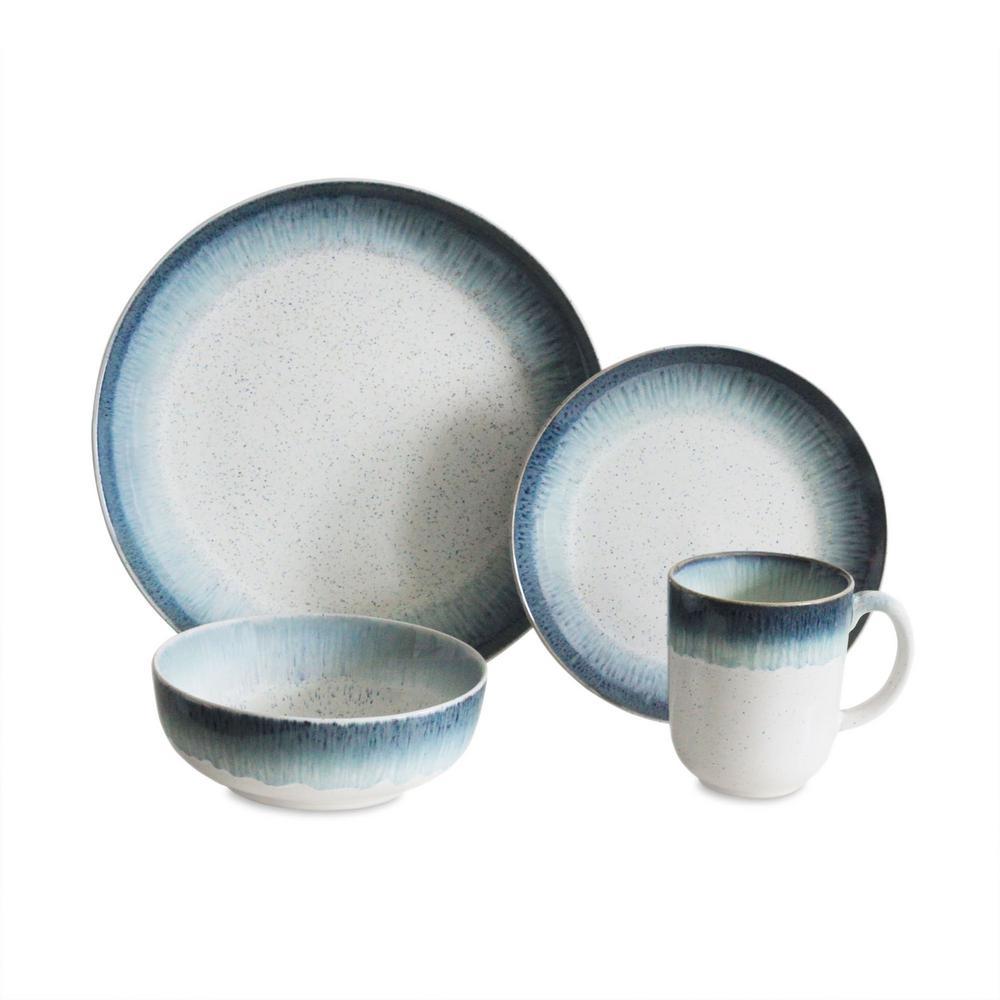 Marina 16-Piece Blue Dinnerware Set