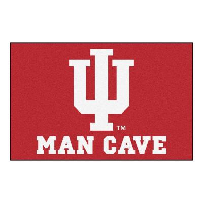 Indiana University Red Man Cave 2 ft. x 3 ft. Area Rug