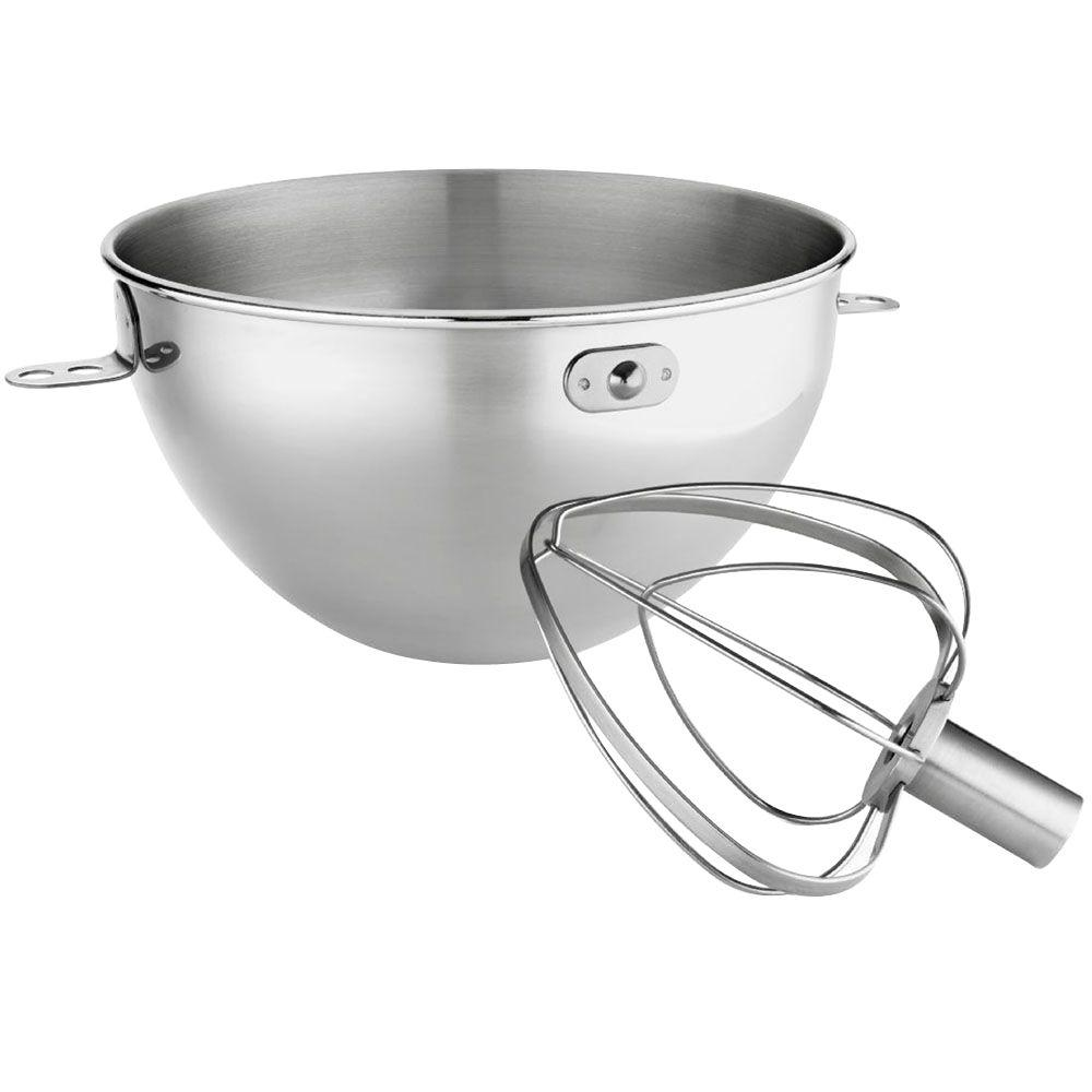 KitchenAid KitchenAid 3 Qt. Stainless Steel Bowl and Whip Set for Bowl-Lift Stand Mixer, Silver
