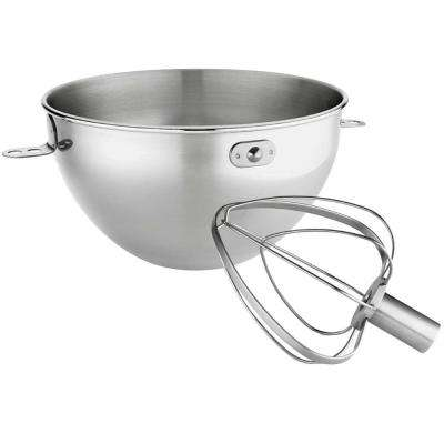 3 qt. Stainless Steel Bowl and Combi Whip Set for Bowl-Lift Stand Mixers
