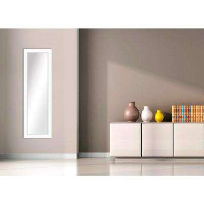 53.5 in. x 17.5 in. White Framed Mirror