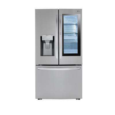 24 cu. ft. 3-Door French Door Refrigerator with Craft Ice in Print Proof Stainless Steel, Counter Depth