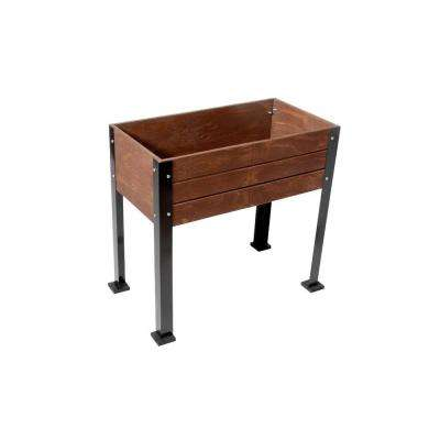 KD Elevated Wood Planter in Expresso