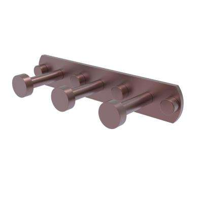 Fresno Collection 3-Position Multi Hook in Antique Copper