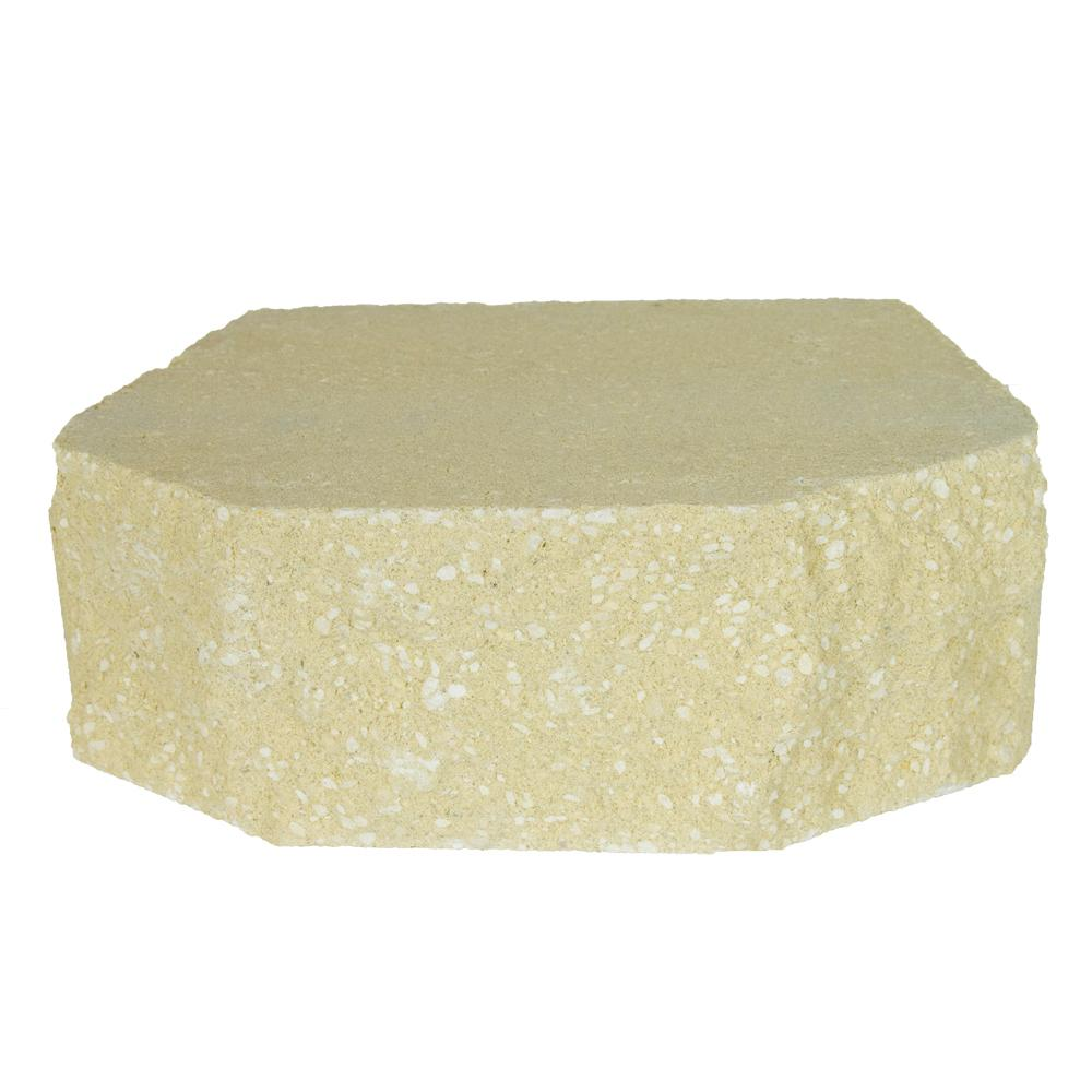 Oldcastle 4 in. x 11.75 in. x 7.75 in. Sand Concrete Retaining Wall ...