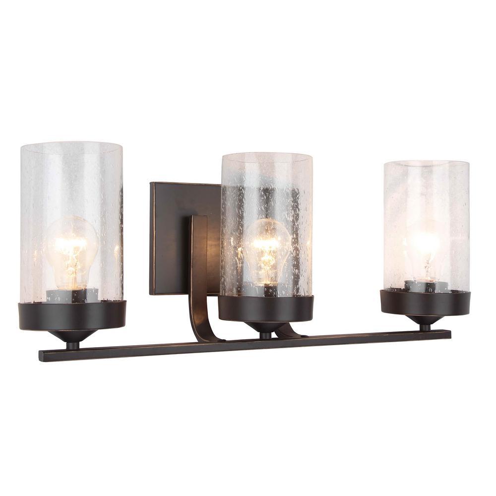 Shyra 3-Light Imperial Dark Brown Vanity Lighting