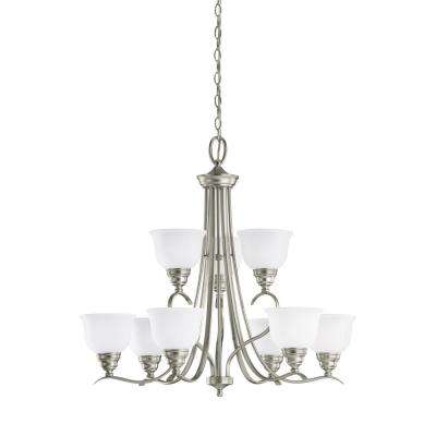 Wheaton 9-Light Brushed Nickel Chandelier