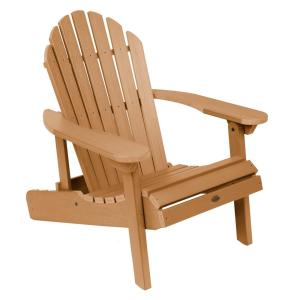 Hamilton Toffee Folding and Reclining Plastic Adirondack Chair