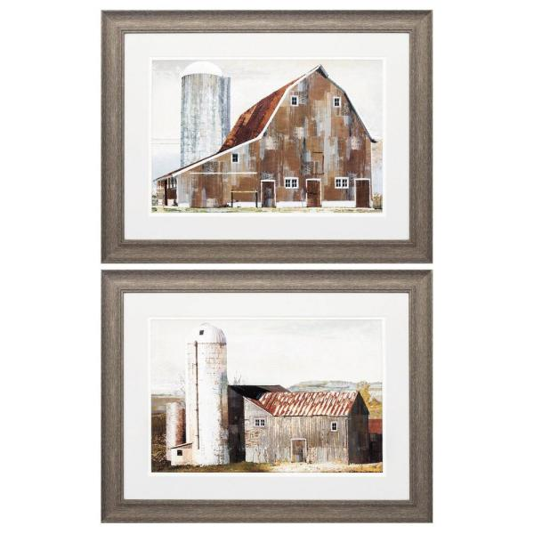 Homeroots Victoria 8 In X 10 In Distressed Wood Toned Gallery Frame Set Of 2 365821 The Home Depot