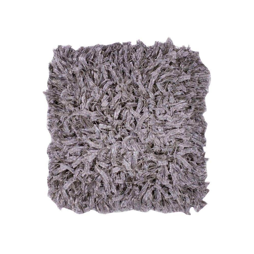 Kas Rugs Classy Shag Grey Decorative Pillow