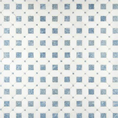 Azula Hatchwork 12 in. x 12 in. x 10mm Polished Marble Mesh-Mounted Mosaic Tile (10 sq. ft. / Case)