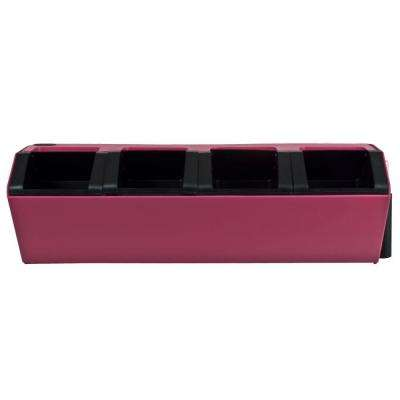 Vesi 7 in. L x 22.5 in. W x 7 in. H Pink Plastic Self-Watering Wall Planter