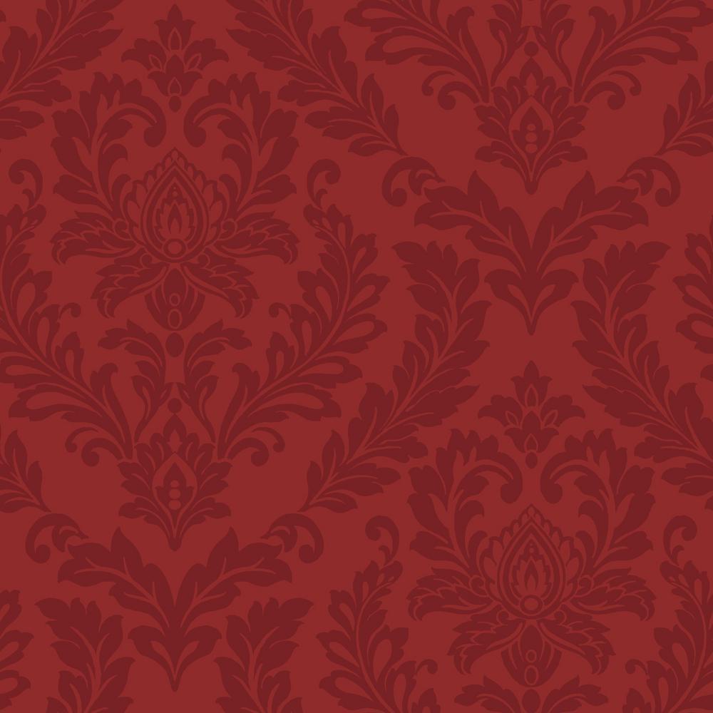 York Wallcoverings Red Damask Wallpaper by York Wallcoverings