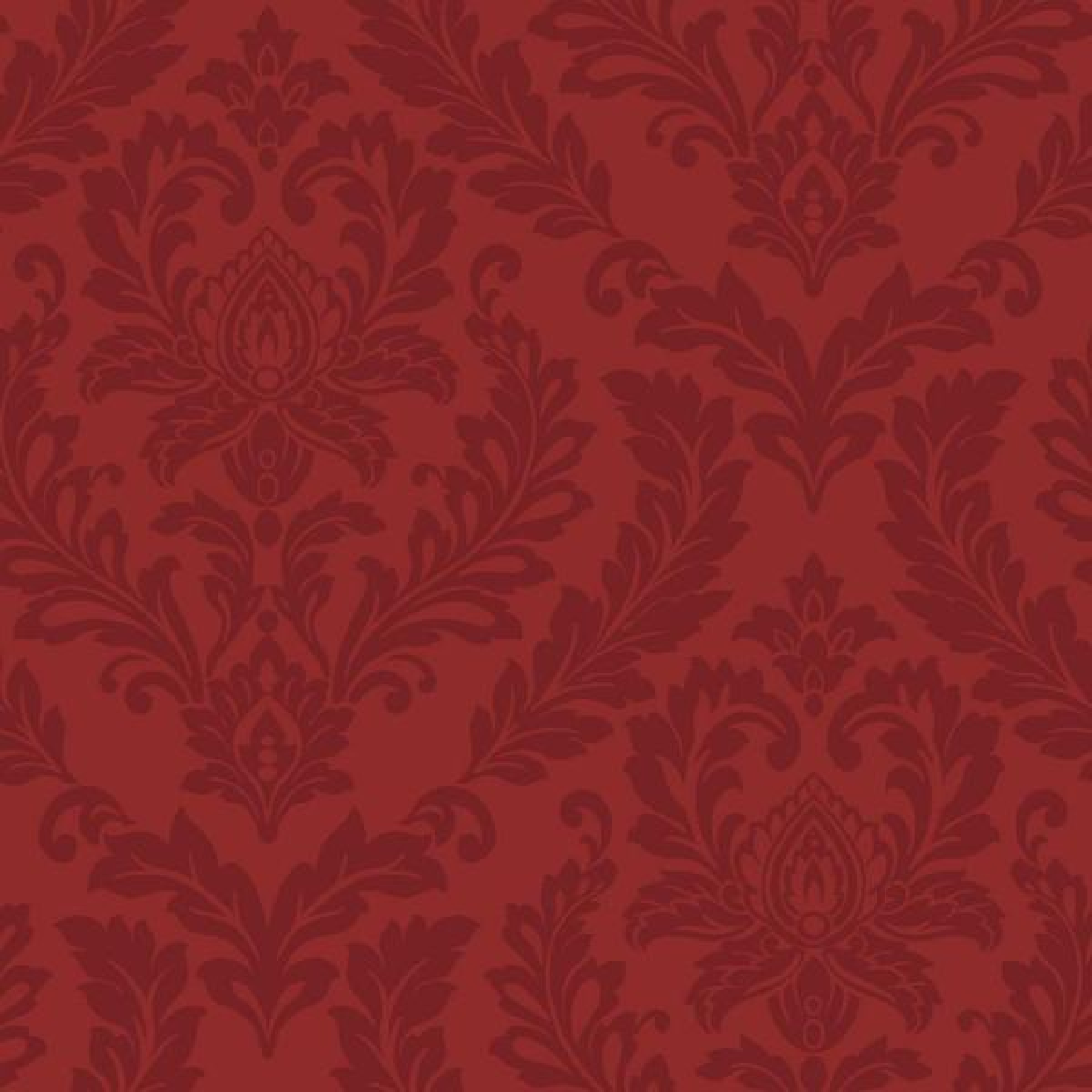 Remarkable Red Damask Wallpaper Interior Design Ideas Skatsoteloinfo
