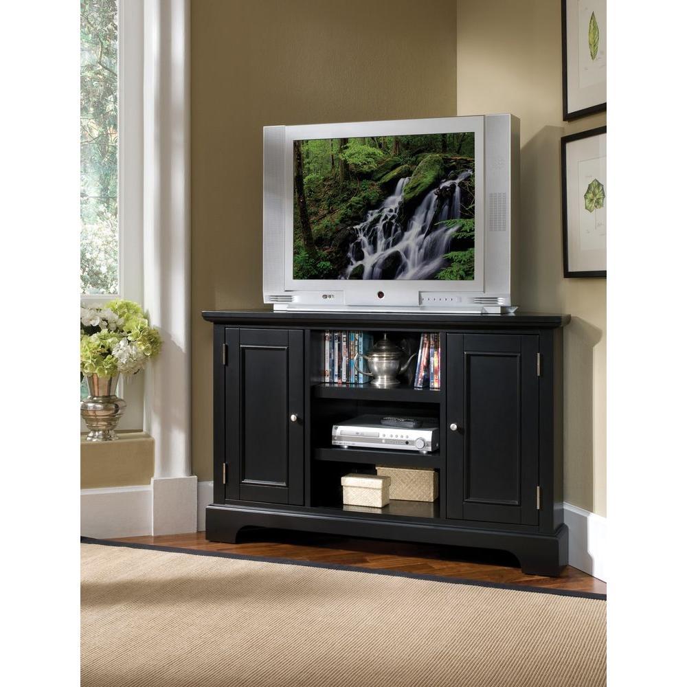 Home Styles Bedford Black Corner TV Stand