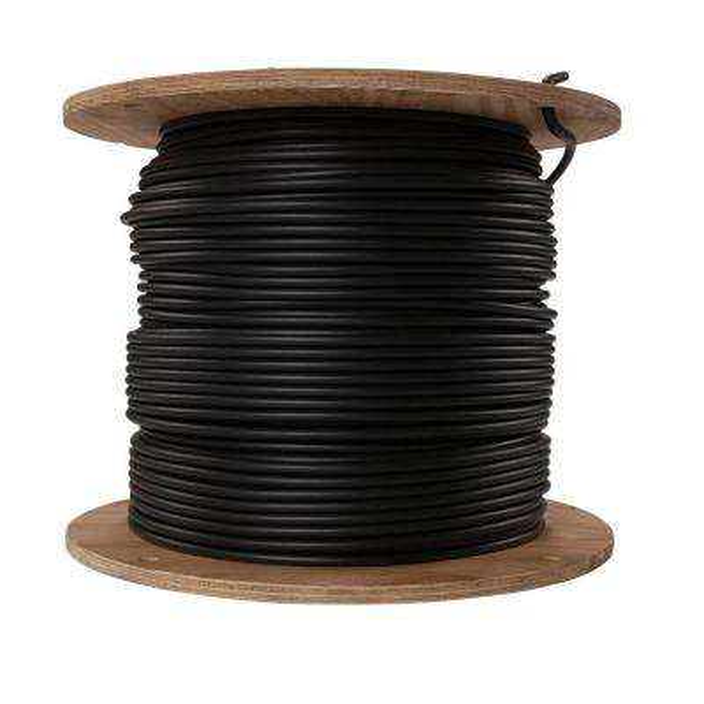 1000 ft. 1/1 Black Stranded AL USE Cable