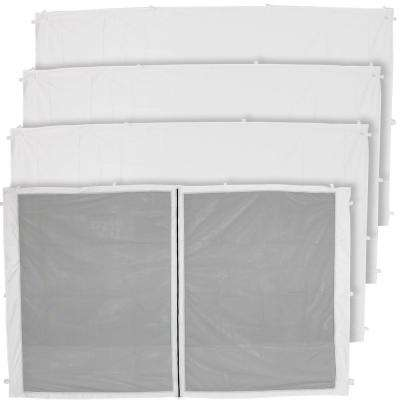 1-Zippered and 3-Standard Sidewall Panels for 10 ft. x 10 ft. Straight Leg Canopy