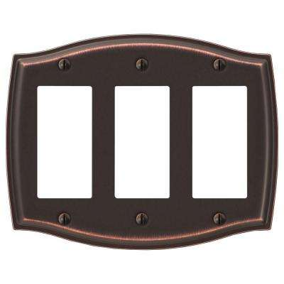 Sonoma 3-Gang Decora Wall Plate - Aged Bronze