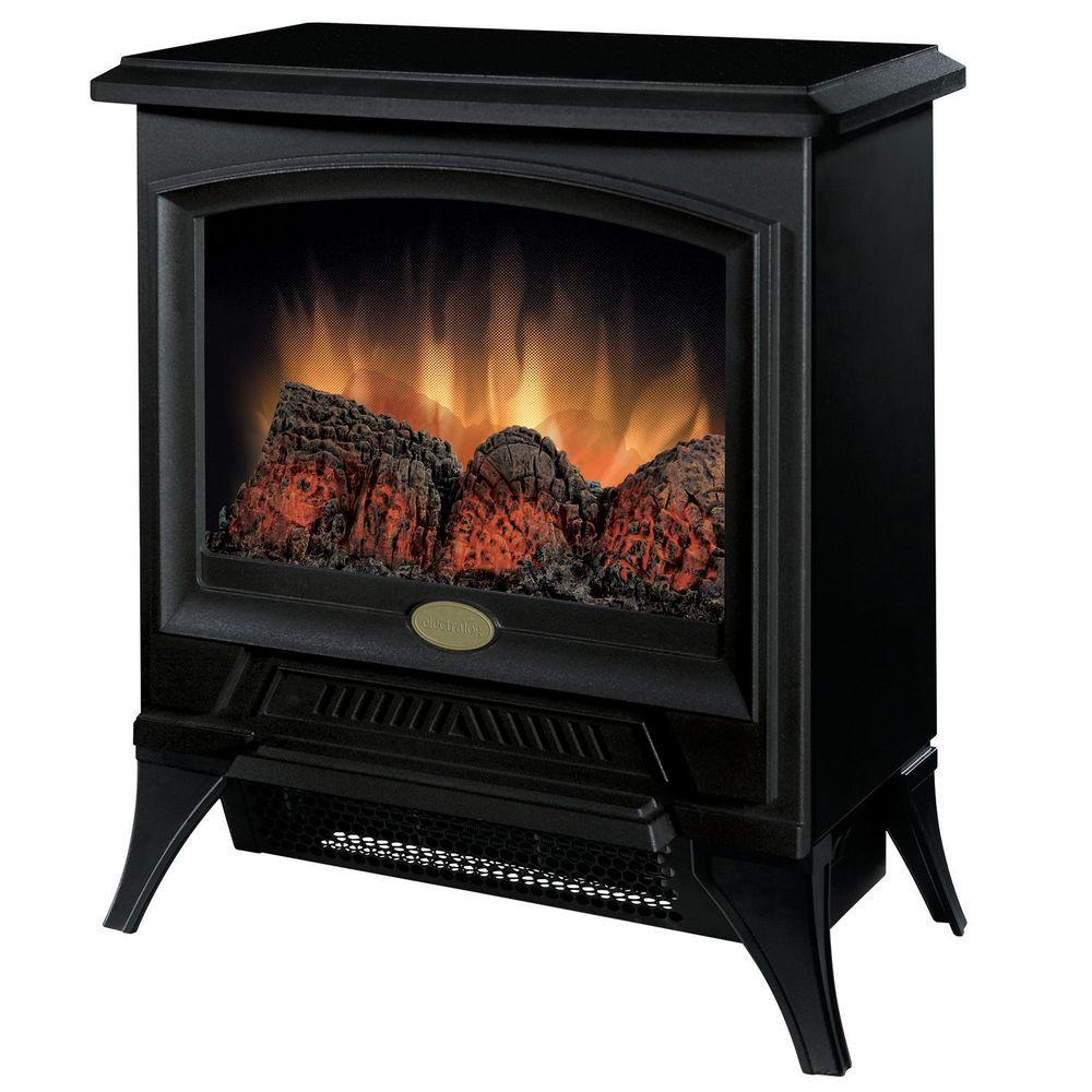 Tristan 400 sq. ft. Electric Stove in Black