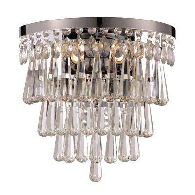 Crystal Cove 3-Light Polished Chrome Sconce
