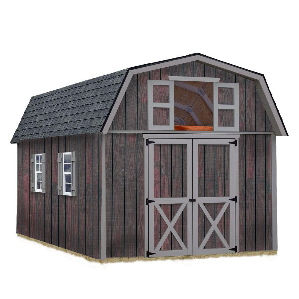 Best Barns Woodville 10 ft. x 16 ft. Wood Storage Shed Kit