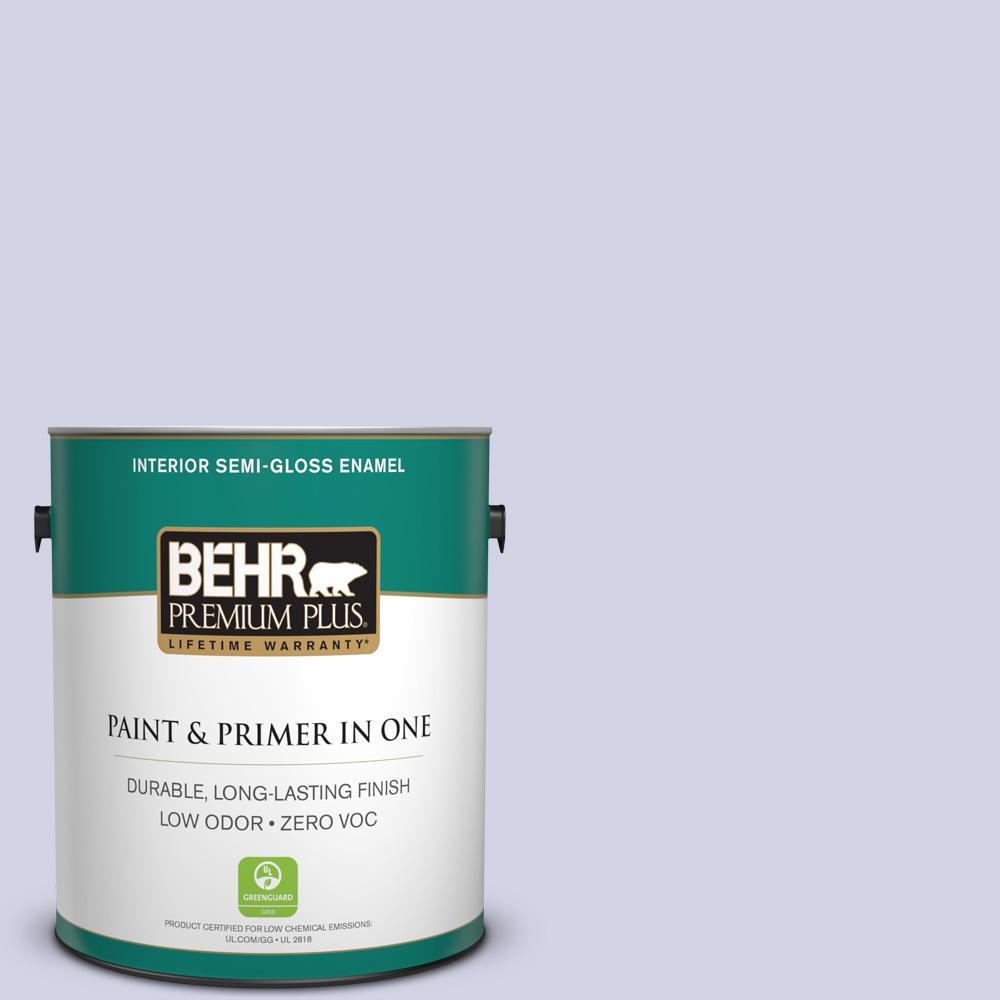 BEHR Premium Plus 1-gal. #M550-2 Lavender Memory Semi-Gloss Enamel Interior Paint