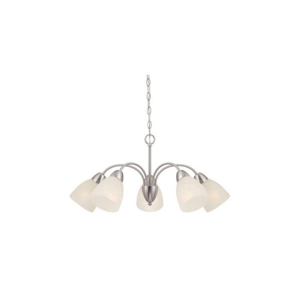 Torino 5-Light Brushed Nickel Chandelier