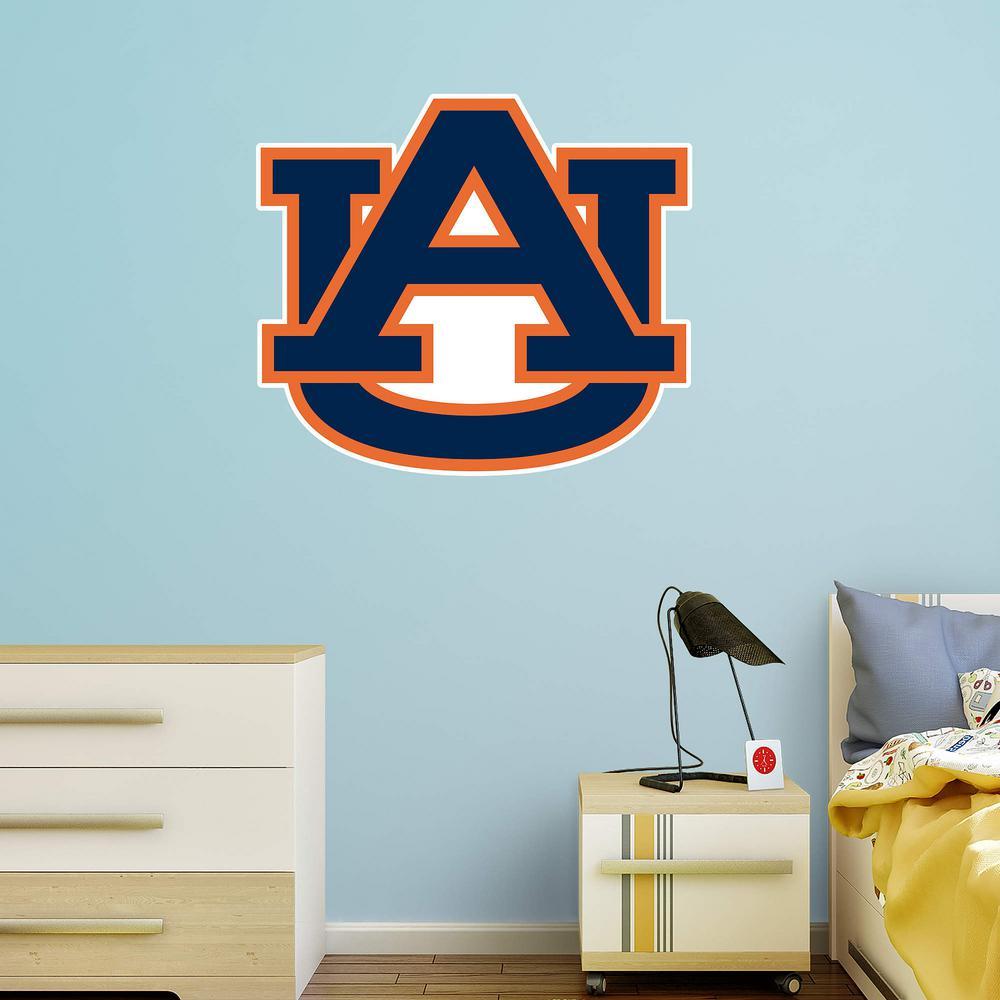 Fathead 34 in. H x 39 in. W Auburn Tigers Logo Wall Mural-61-61286 ... fa07cde15