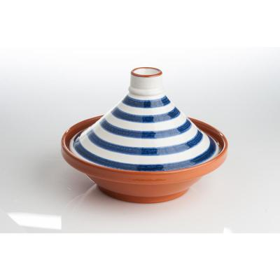 Blue and White Striped Tagine