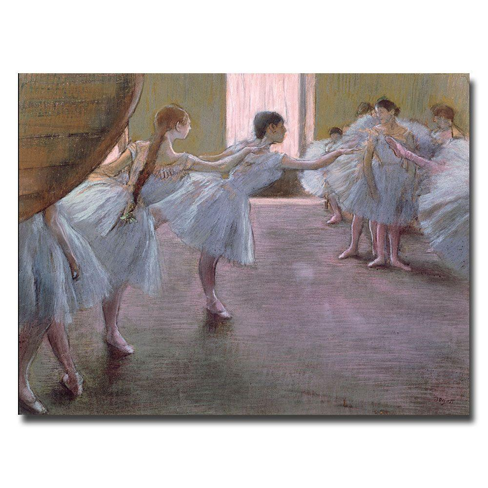 Trademark Fine Art 24 in. x 32 in. Dancers at Rehearsal, 1875-77 Canvas Art