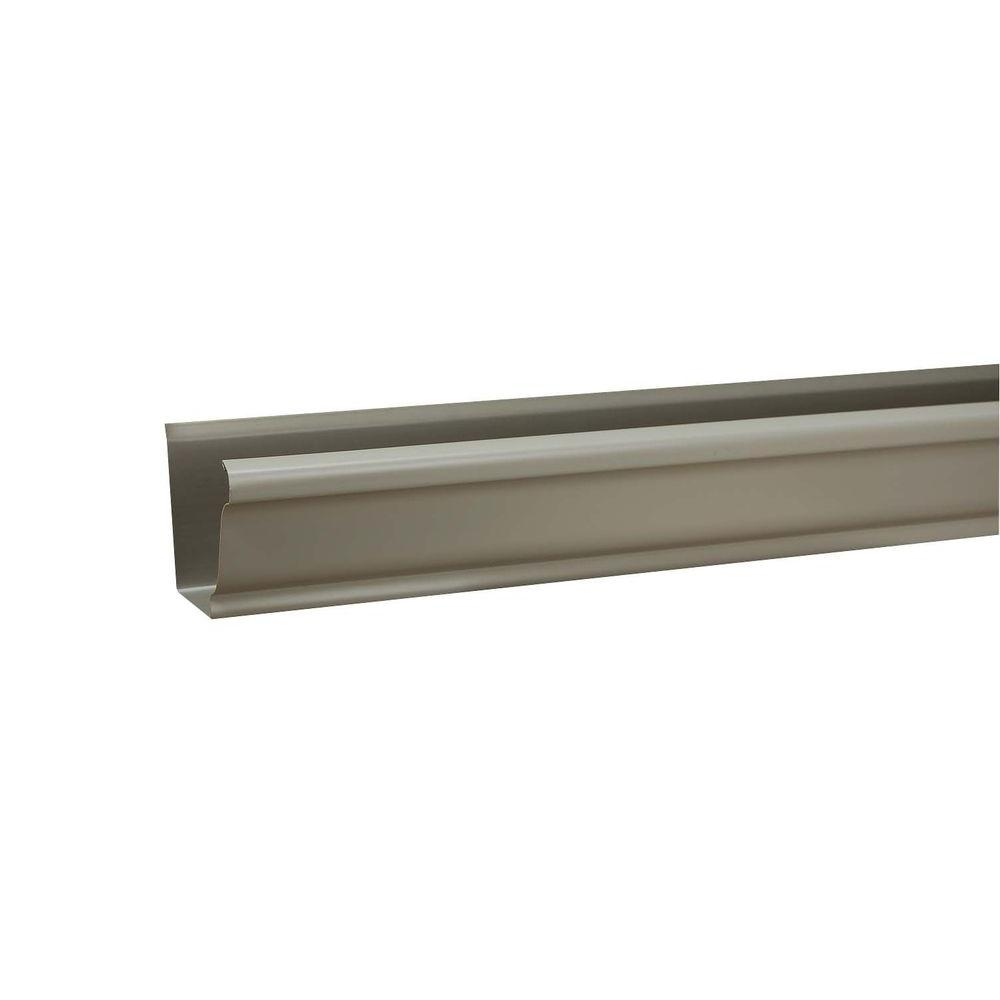 6 in. x 10 ft. K-Style Pearl Gray Aluminum Gutter
