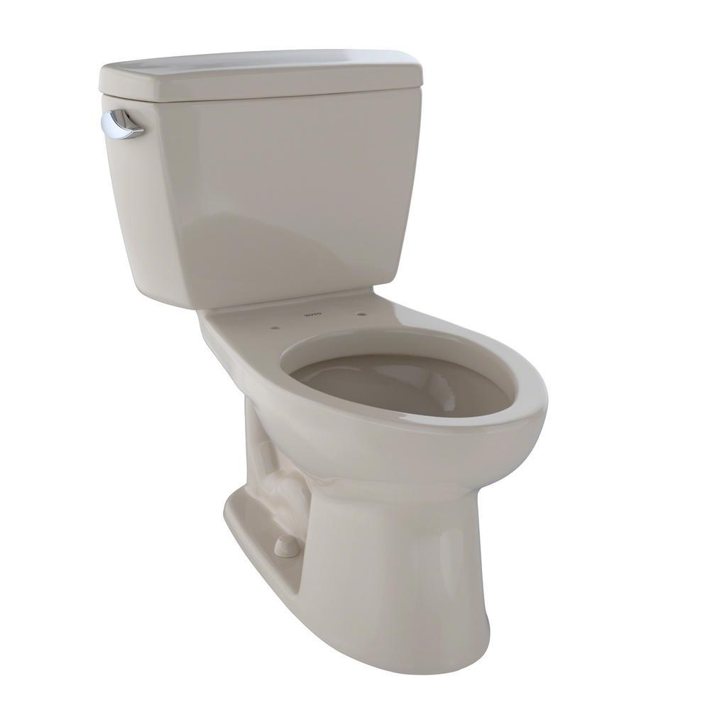 Eco Drake ADA Compliant 2-Piece 1.28 GPF Single Flush Elongated Toilet in Bone