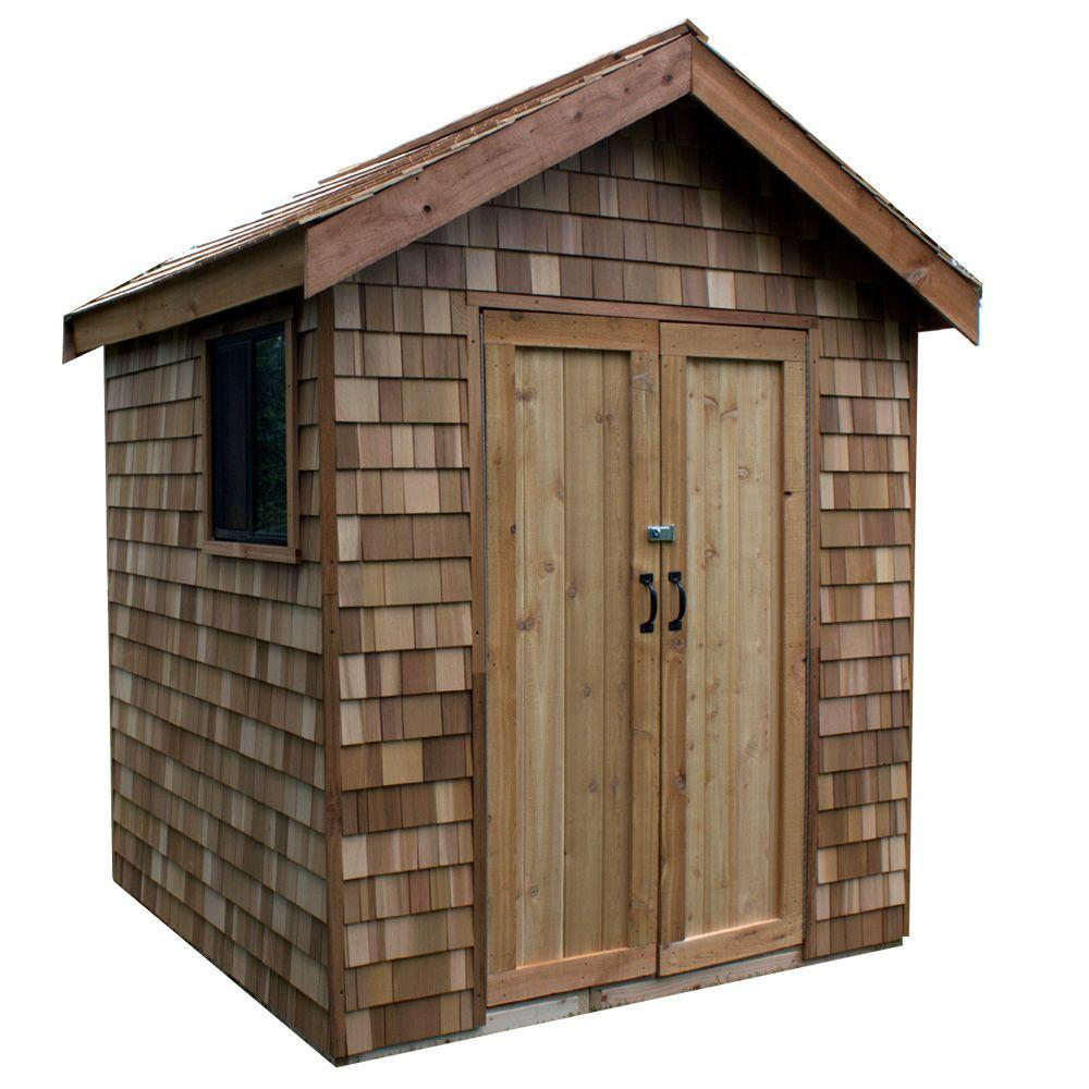 Greenstone 6 ft. x 9 ft. EZ-Build Shed Kit with Prefab Panels