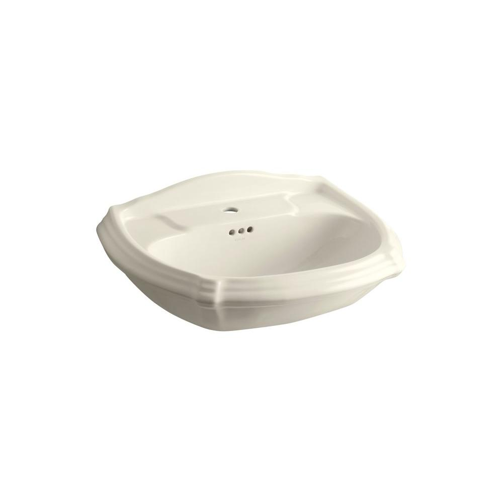 Wonderful Pedestal Sink Basin In Almond