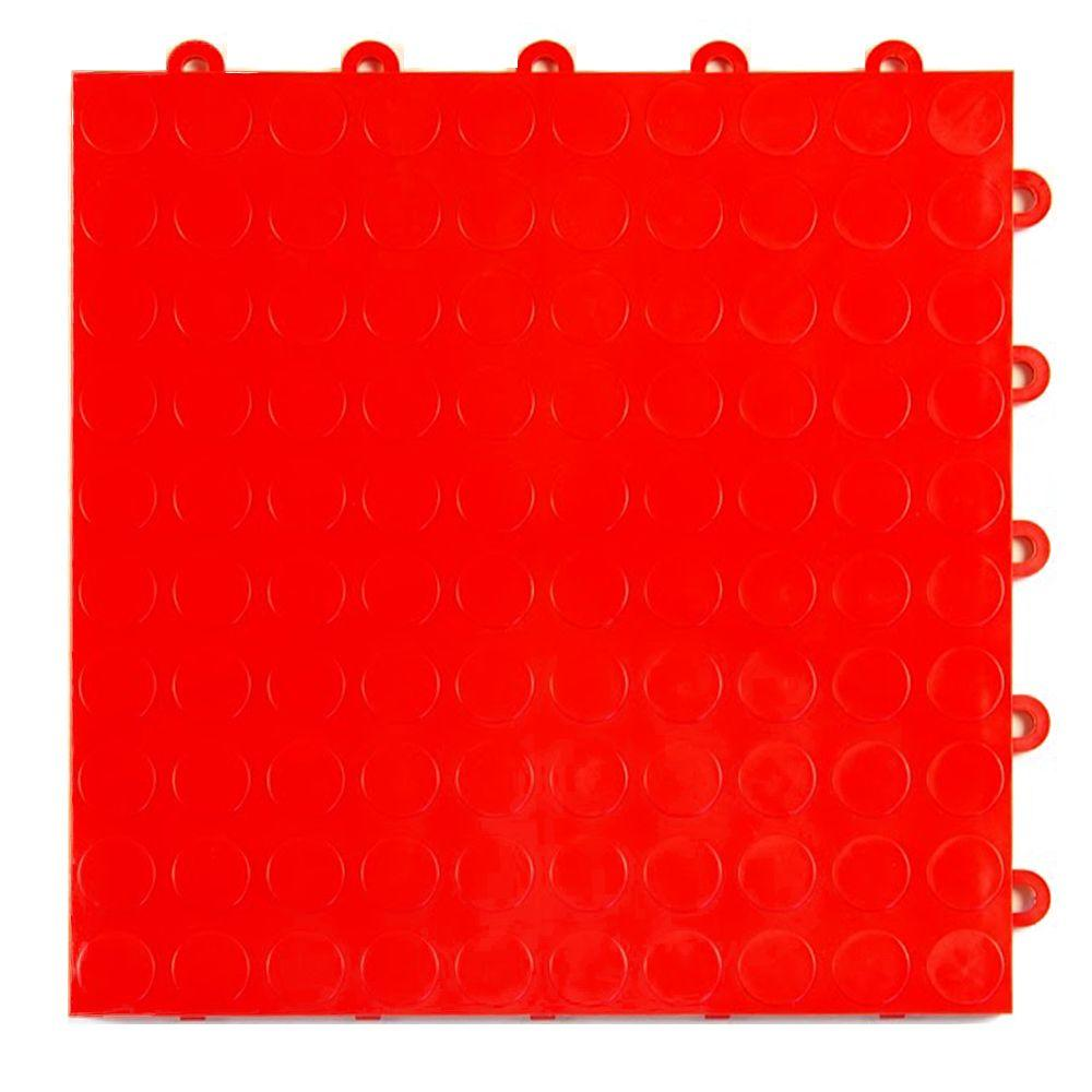 Master mark armadillo tile black 12 in x 12 in polypropylene coin top 1 ft x 1 ft x 58 in red dailygadgetfo Image collections