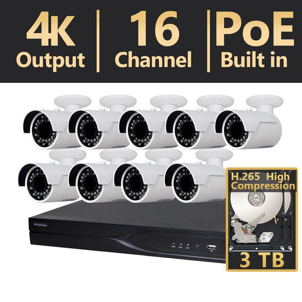 Laview 16 Channel Hd 4mp Ip Indoor Outdoor Surveillance