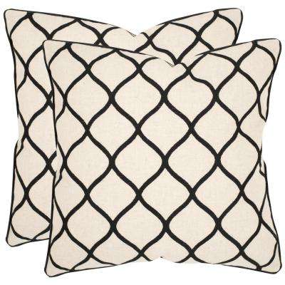 Eliza Embroidered Geometric Pillow (2-Pack)