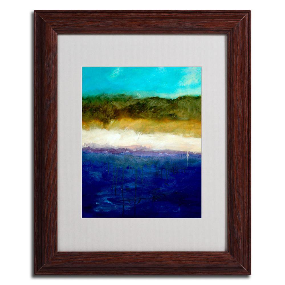 Trademark Fine Art 16 in. x 20 in. Abstract Dunes Study Dark Wooden Framed Matted Art