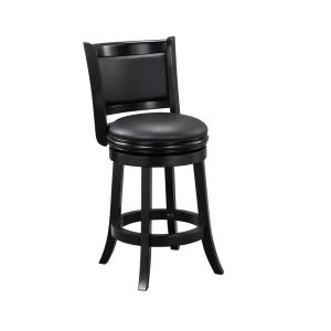 Black Swivel Cushioned Bar Stool