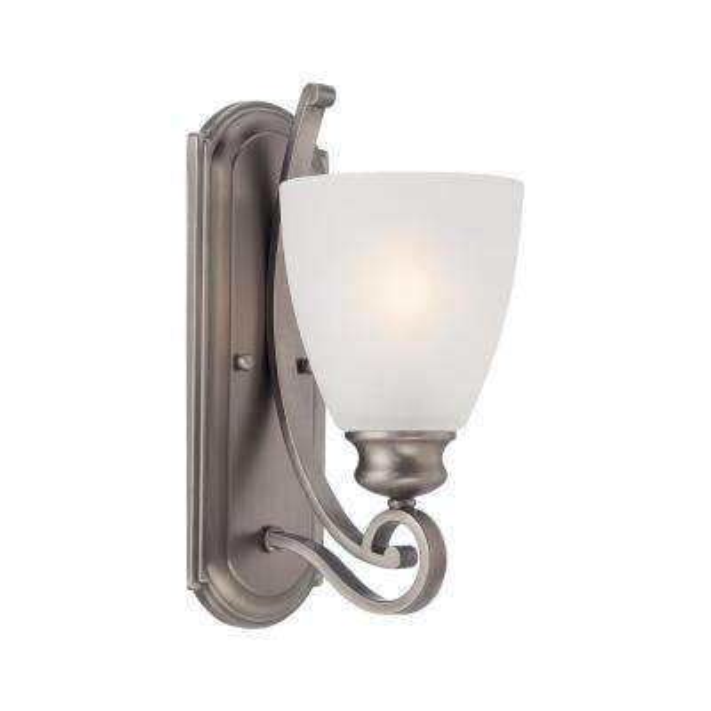 Haven 1-Light Satin Pewter Bath Light
