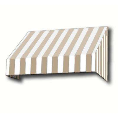 8.38 ft. Wide New Yorker Window/Entry Awning (44 in. H x 48 in. D) Linen/White