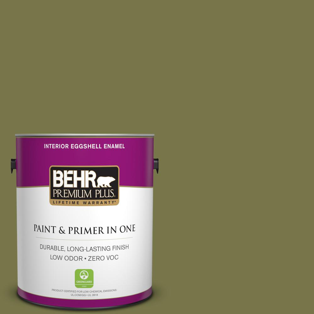 BEHR Premium Plus 1-gal. #S340-7 Tree Hugger Eggshell Enamel Interior Paint