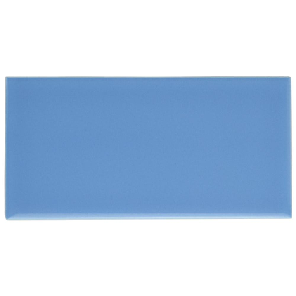 Merola Tile Park Slope Subway Calm Blue 3 in. x 6 in. Ceramic Wall ...